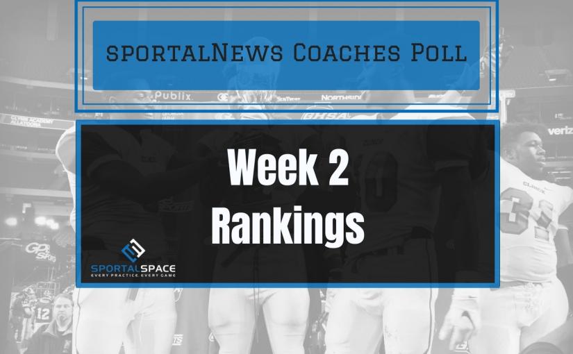Week 2 Football CoachesPoll