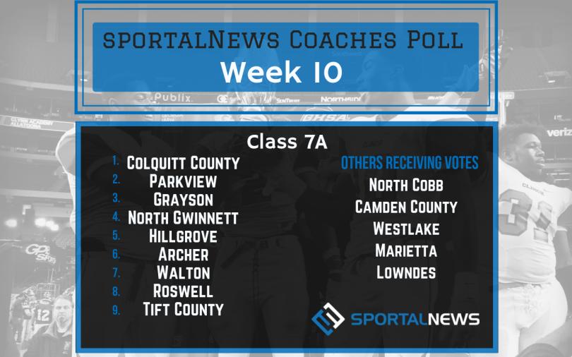Week 10 7A sportalNews Coaches Poll
