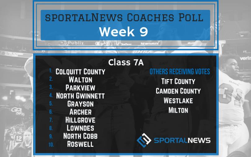 Week 9 7A sportalNews Coaches Poll